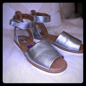 Silver Clarks sandals